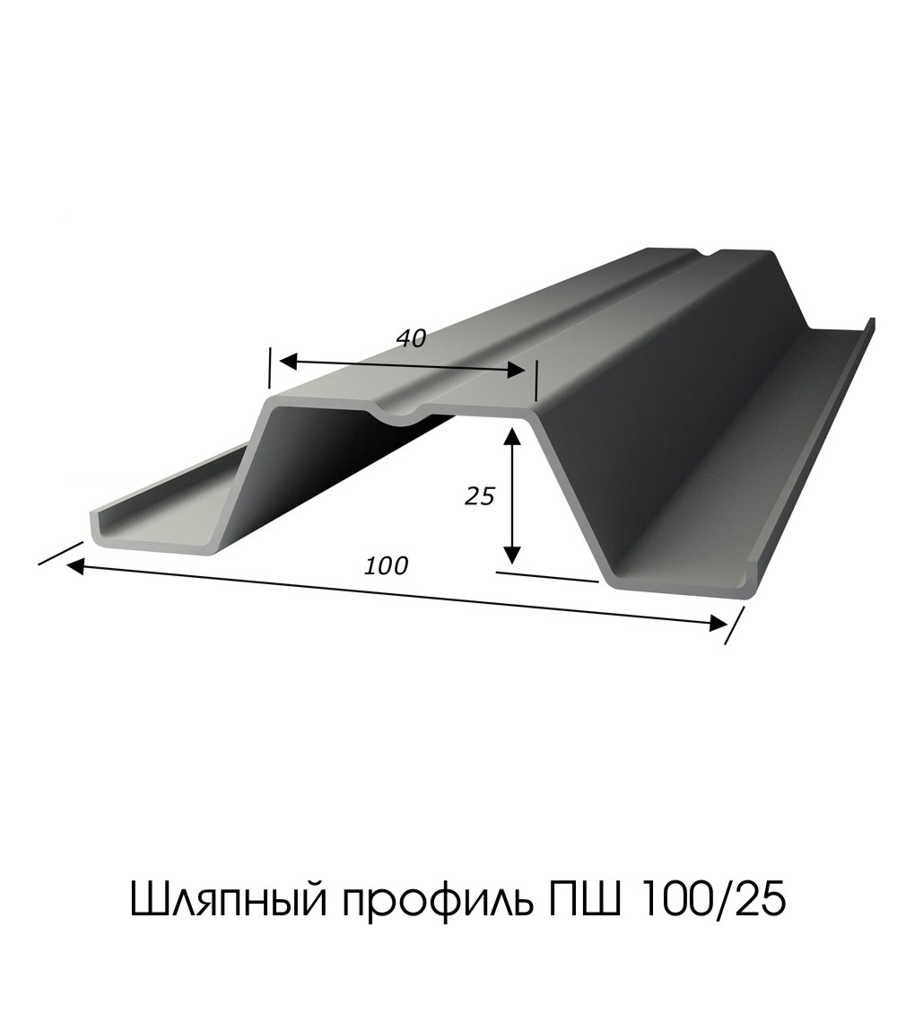 Шляпный профиль ПШ 100/25